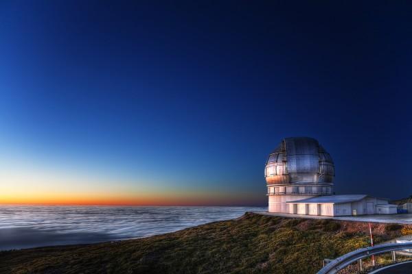 El Grantecan, el mayor telescopio del mundo, cumple este mes 5 años de su instalación en el Observatorio de El Roque de los Muchachos, en la isla  de La Palma